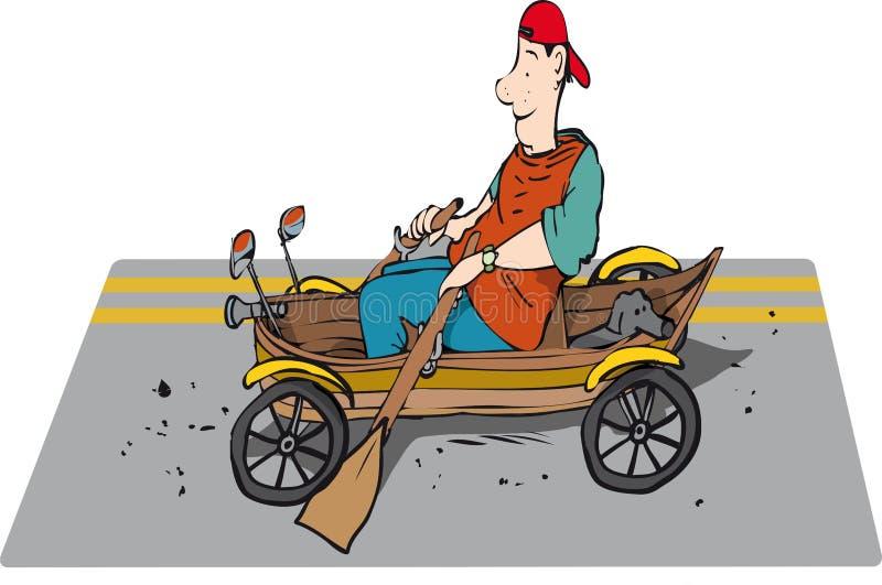 Rameur de route illustration stock