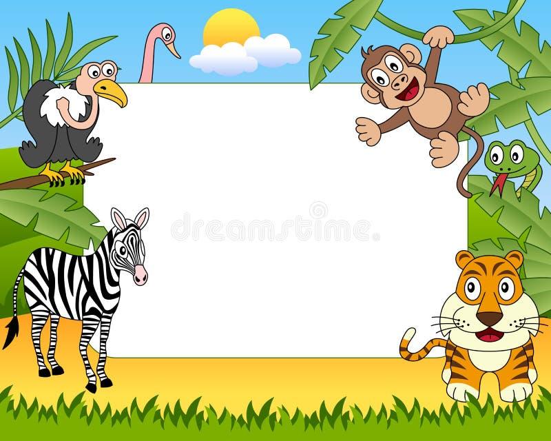 ramfoto för 2 afrikanskt djur stock illustrationer