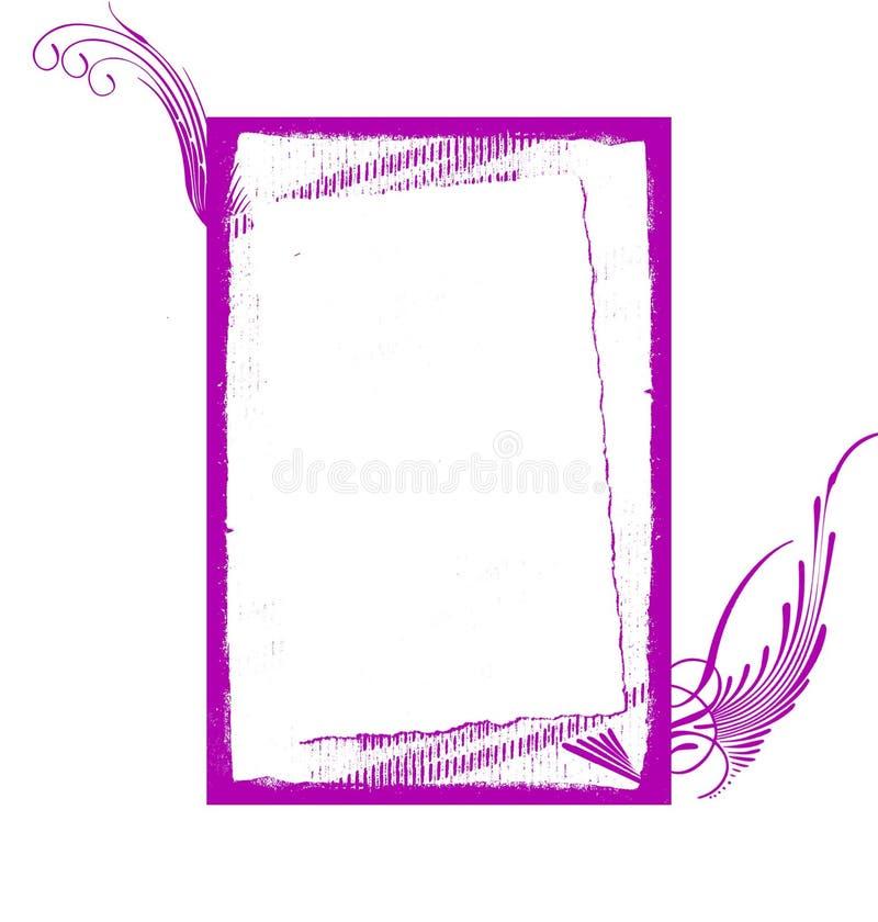 ramgrunge virveer violeten royaltyfria bilder