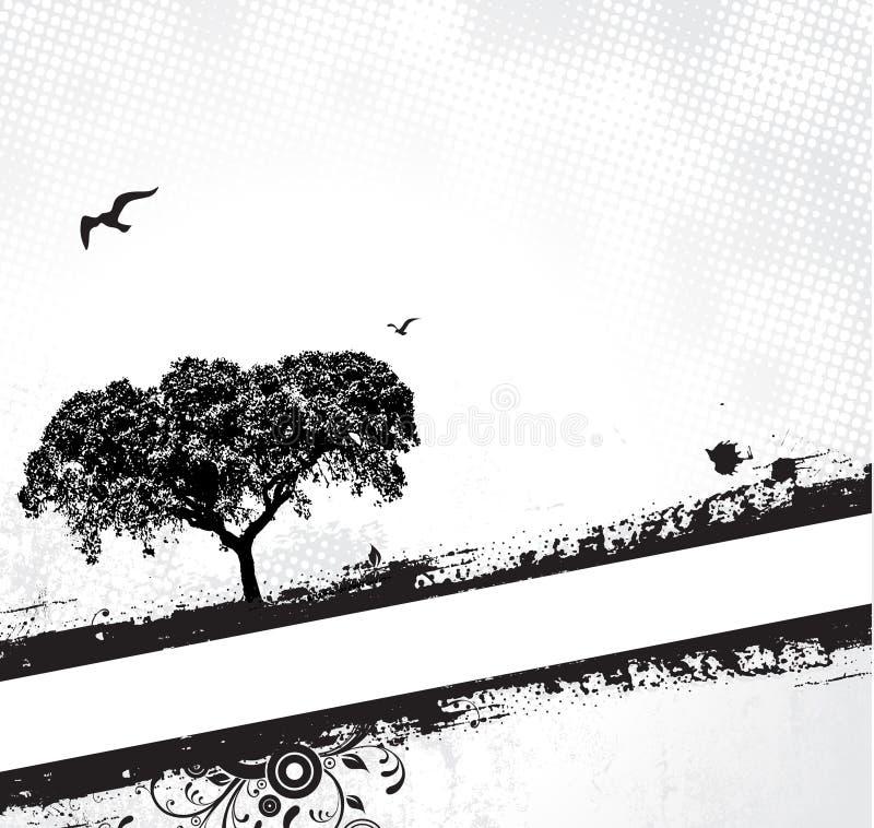 ramgrungetree royaltyfri illustrationer