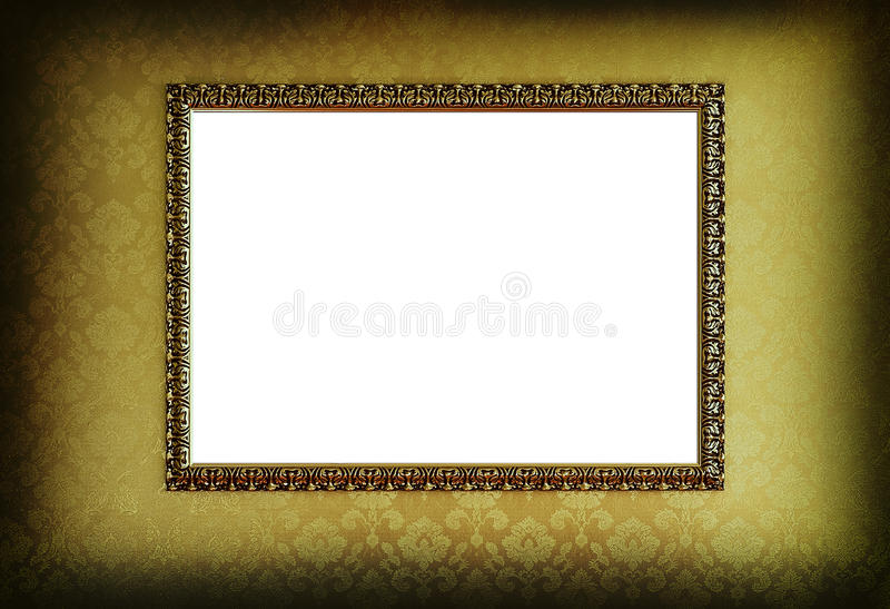 ramguldgrunge royaltyfri illustrationer