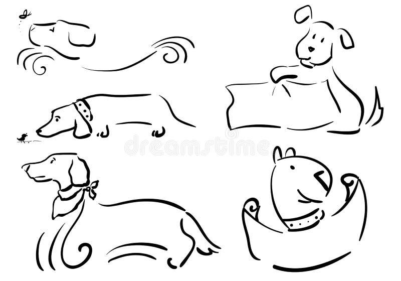 RamHUNDKAPPLÖPNING vektor illustrationer