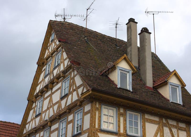 Ramhus - dropp - Waiblingen - Tyskland royaltyfria foton