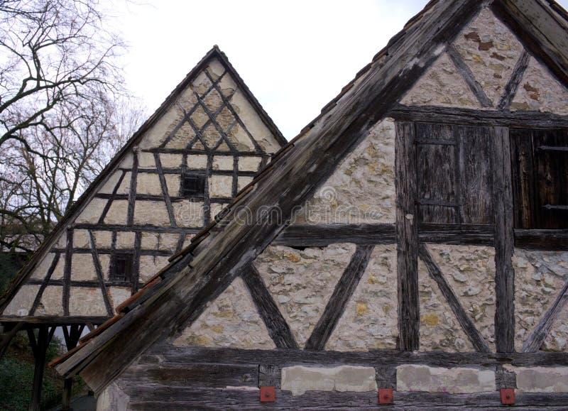 Ramhus - XI - Waiblingen - Tyskland arkivfoton