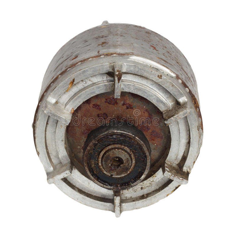 Rami il motore elettrico dell'interno delle bobine fotografia stock libera da diritti