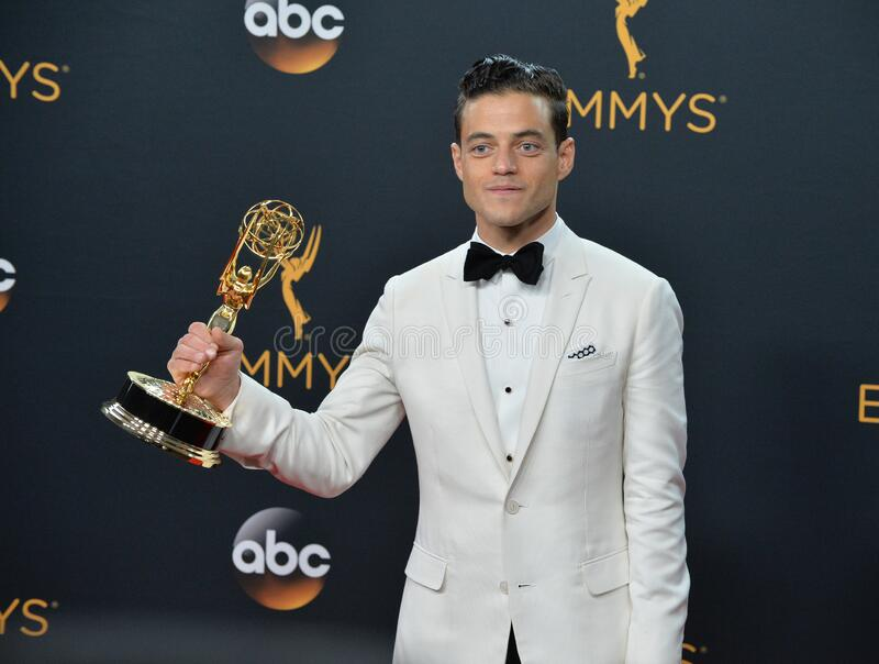 Rami Malek. LOS ANGELES, CA. September 18, 2016: Actor Rami Malek at the 68th Primetime Emmy Awards at the Microsoft Theatre L.A. Live royalty free stock photos