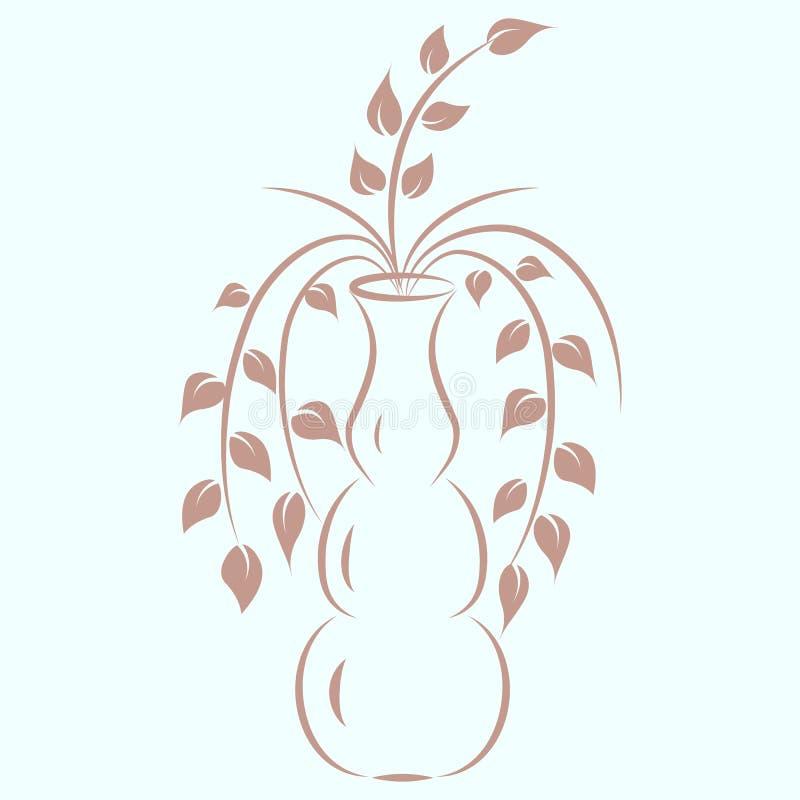 Rami in un vaso illustrazione di stock