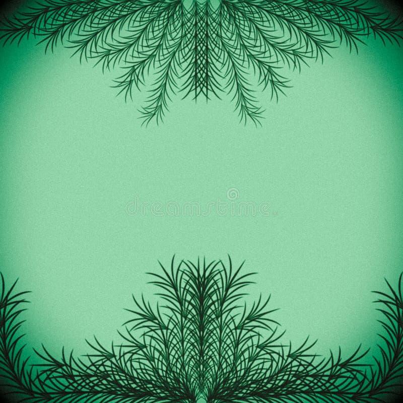 Rami verdi che formano una struttura su un fondo verde pastello fotografia stock libera da diritti