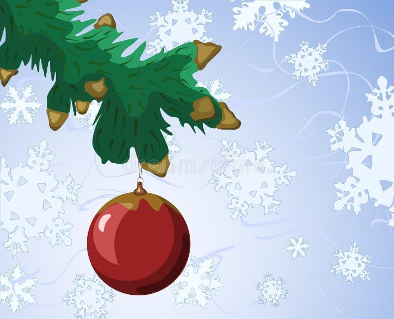 Ramificación del Año Nuevo. stock de ilustración