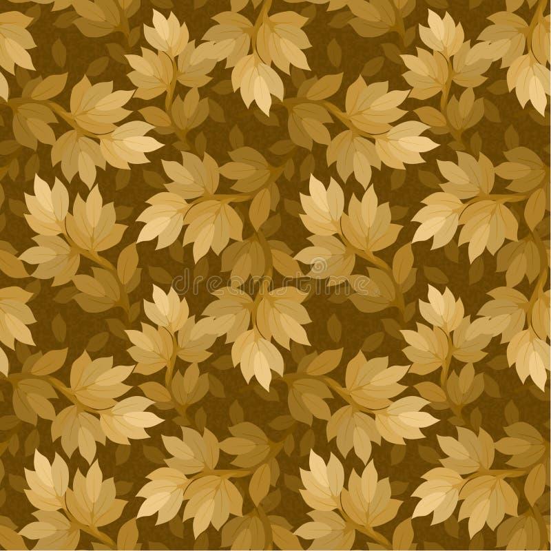 Ramifique con las hojas inconsútiles stock de ilustración