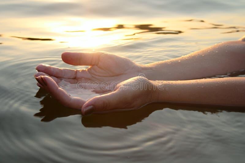 ramiona kobiety wody zdjęcia royalty free