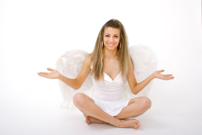 ramiona szeroko rozpościerać anioł fotografia royalty free