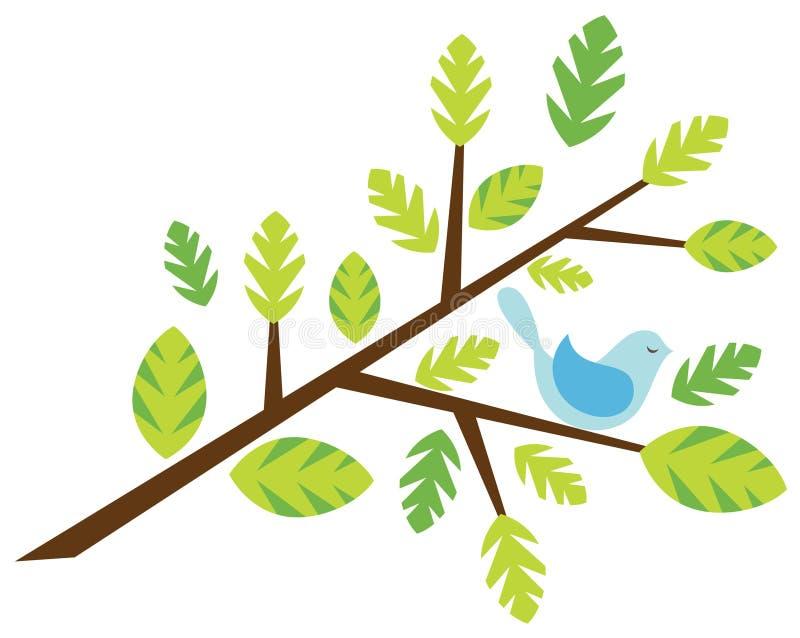 Ramita con un pájaro libre illustration