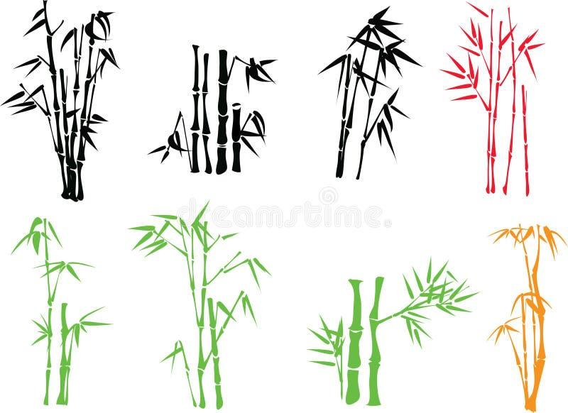 Ramita de bambú stock de ilustración