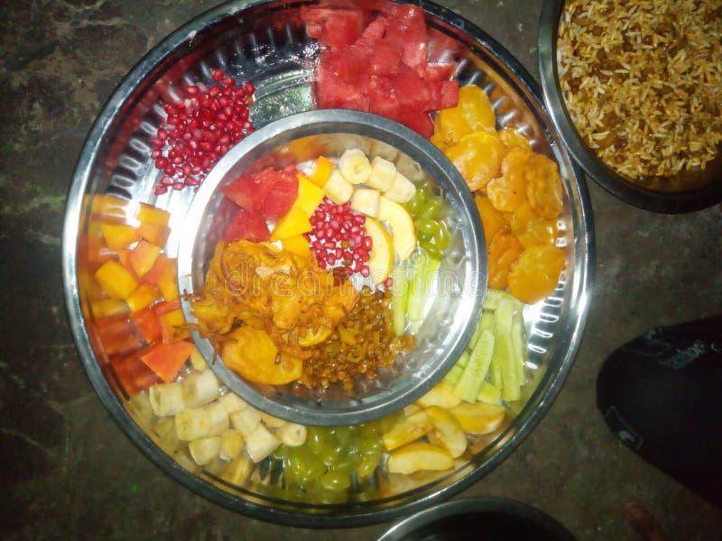 Ramjaan k. Ramjaan. Banana, impotent, papaya, grapes, watermelon royalty free stock image