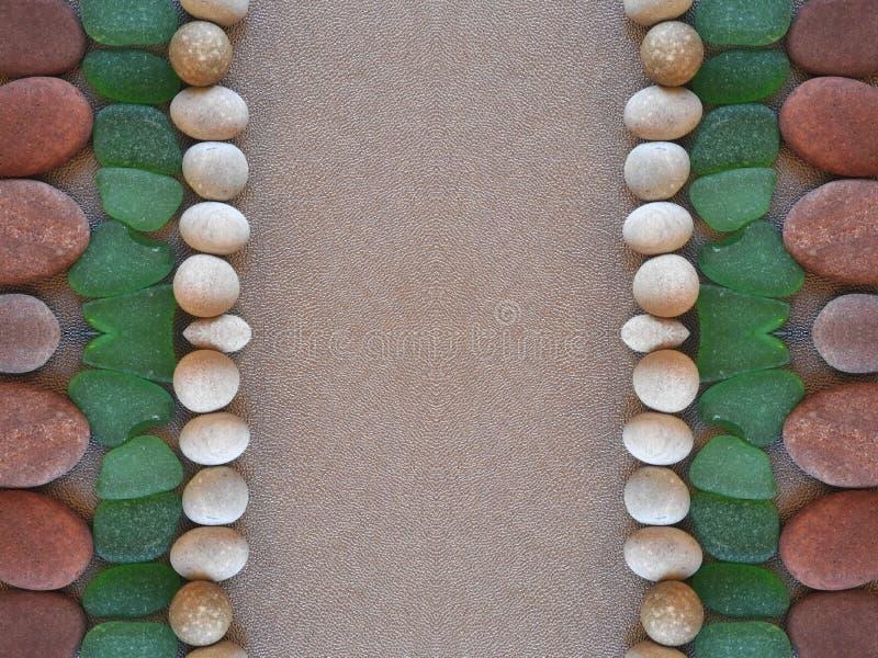 Ramka wykonana z użyciem różnych kolorów: kamień i klasa, Litwa obraz royalty free