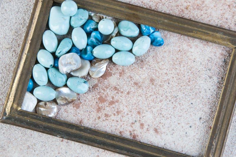 Ramka z mosiężnym obrazem fotografia stock