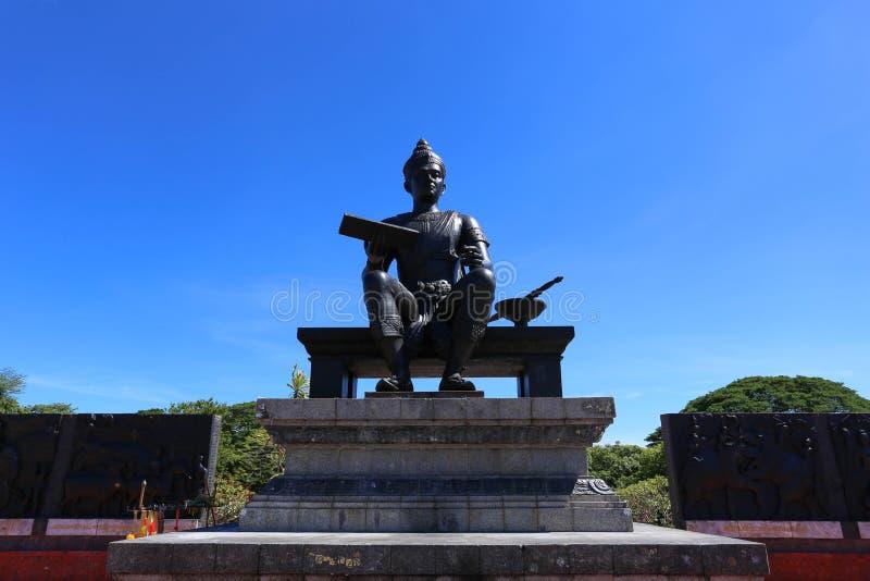 Ramkhamhaeng The Great国王皇家雕象  库存图片
