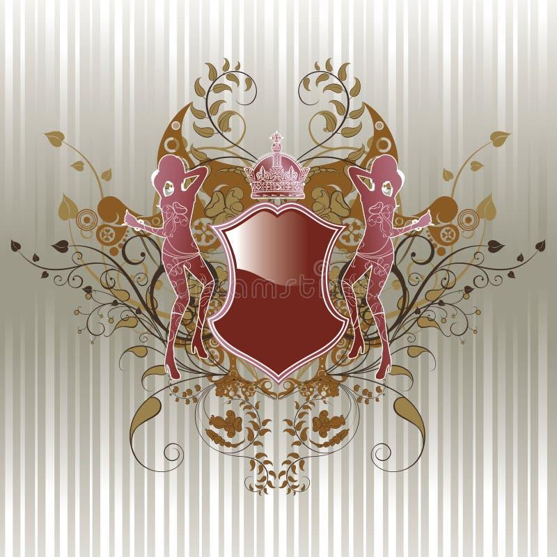 ramkvinna royaltyfri illustrationer