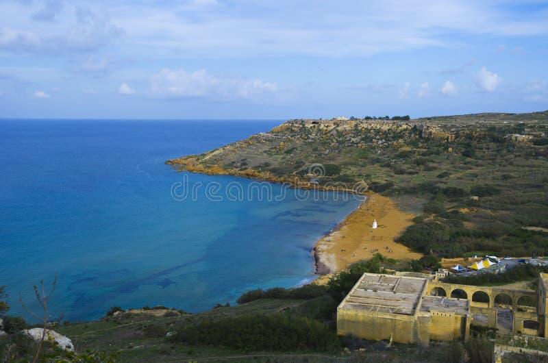 Ramla Bay Gozo royalty free stock photos
