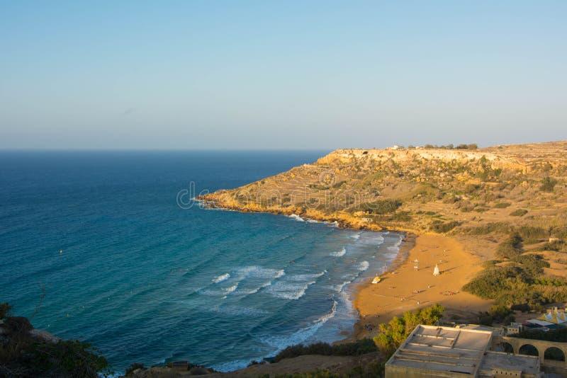 Ramlabaai, Gozo, Malta royalty-vrije stock afbeeldingen