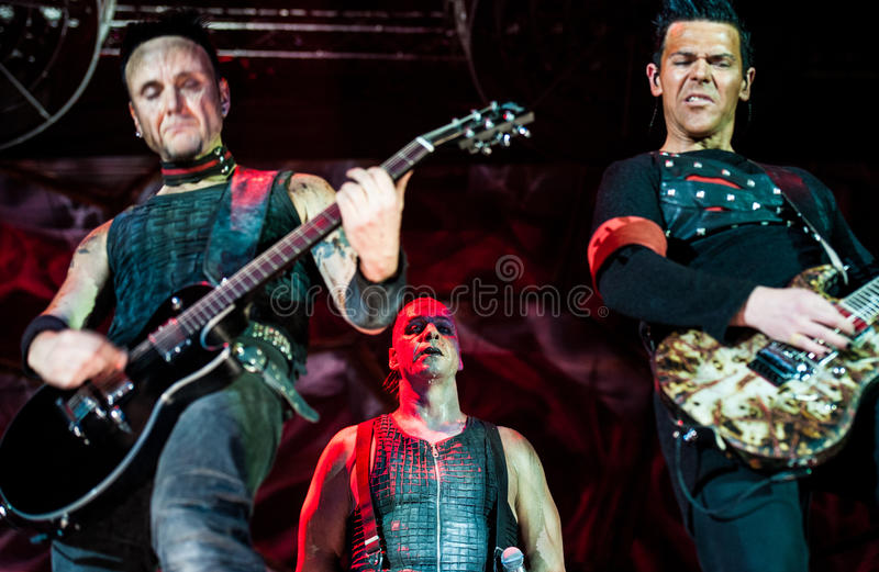 Rammstein concert stock photography
