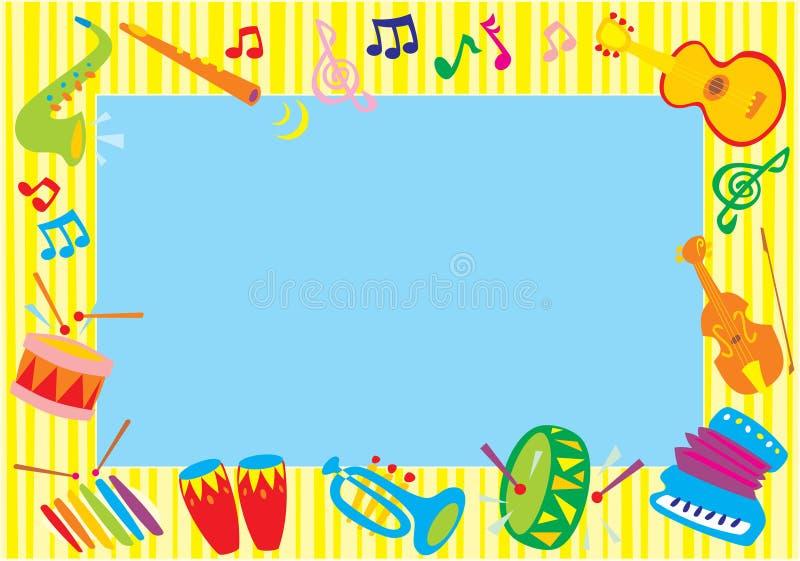 rammusikalfoto stock illustrationer