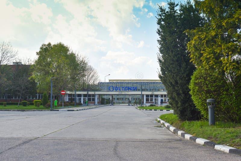 Ramnicu Valcea, Romaniia - 18 04 2019 - Oltchim fabryka chemikali?w fotografia stock