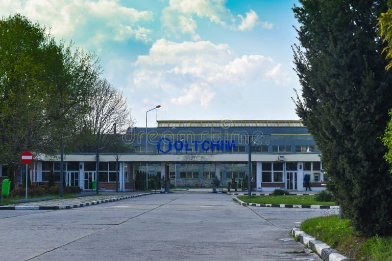 Ramnicu Valcea, Romaniia - 18 04 2019 - Oltchim kemisk växt arkivfoton