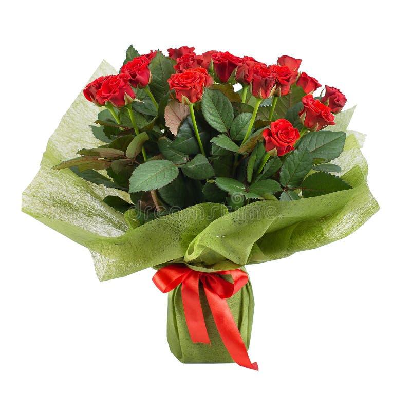 Ramo con las rosas rojas en un estilo aisladas fotografía de archivo libre de regalías