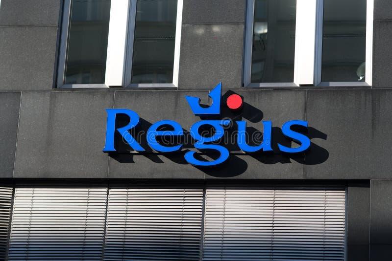 Ramo da empresa de Regus fotografia de stock royalty free
