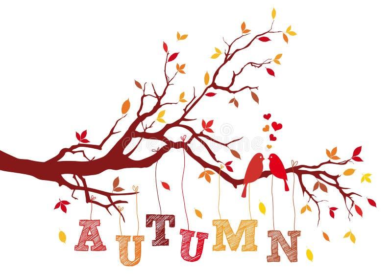 Ramo de árvore do outono, vetor