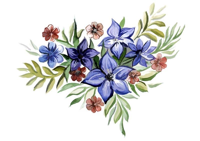 Download Ramo De Color Del Azul De Las Flores Stock de ilustración - Ilustración de color, ordenador: 42439108