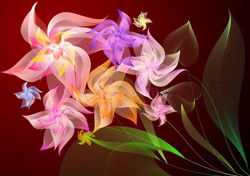Ramo de colores ilustración del vector