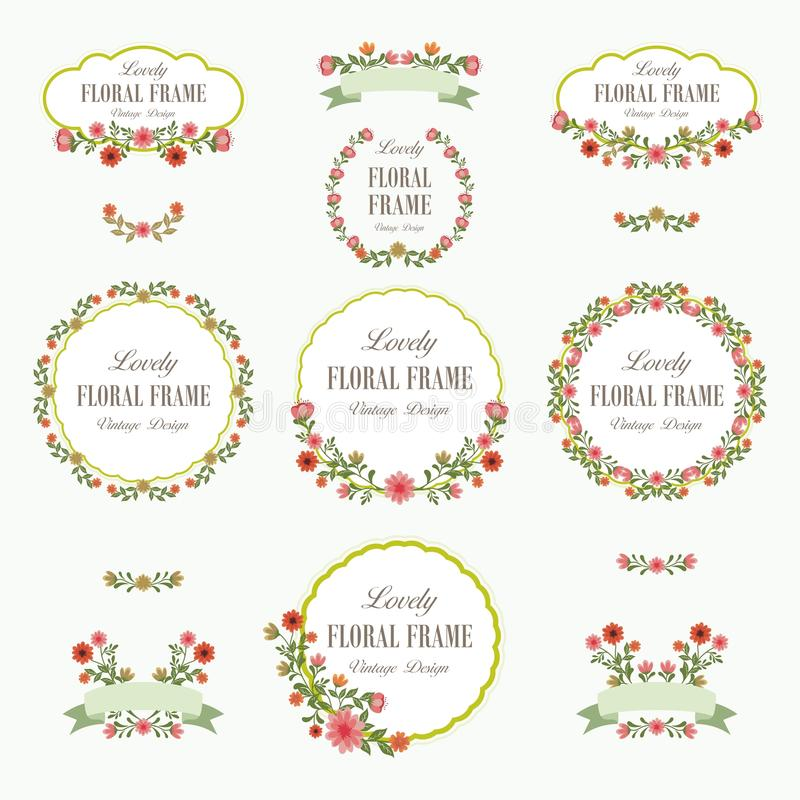 Ramo de diseño precioso de las flores libre illustration