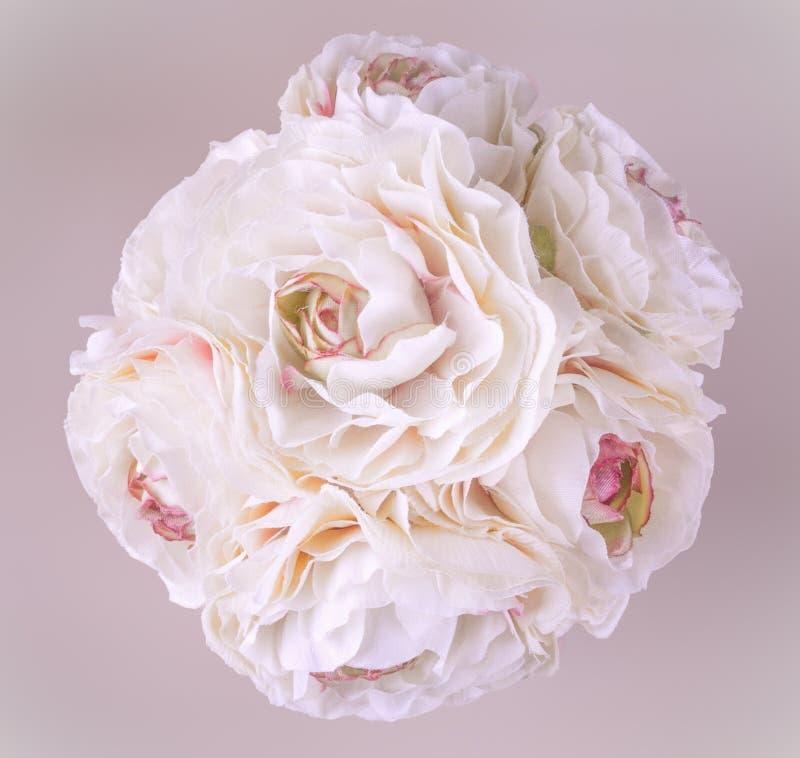 Ramo de flores en pastel foto de archivo