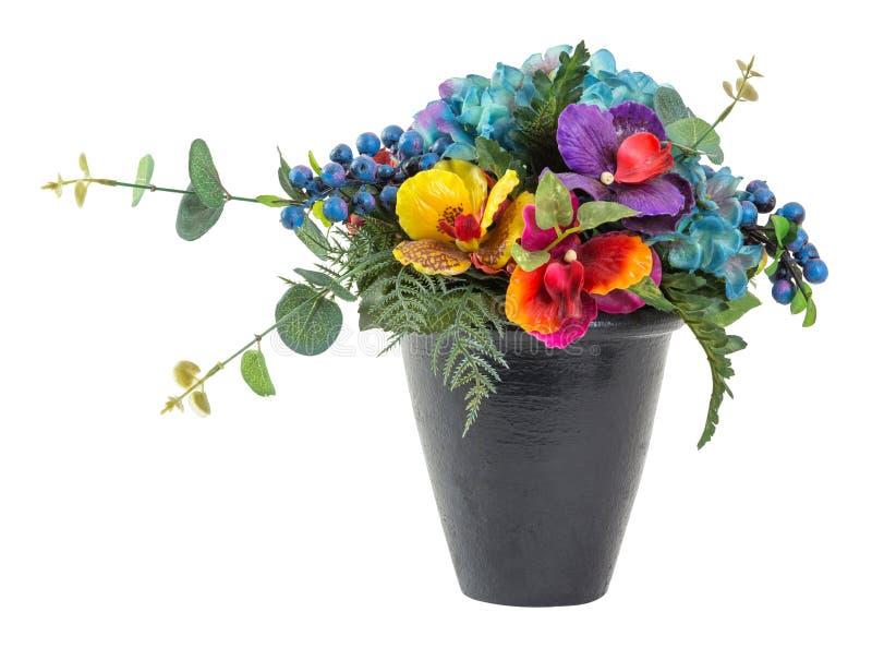 Ramo de hortensia y de Vanda azules foto de archivo libre de regalías