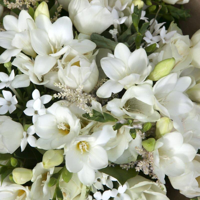 Ramo de la boda de flores blancas foto de archivo