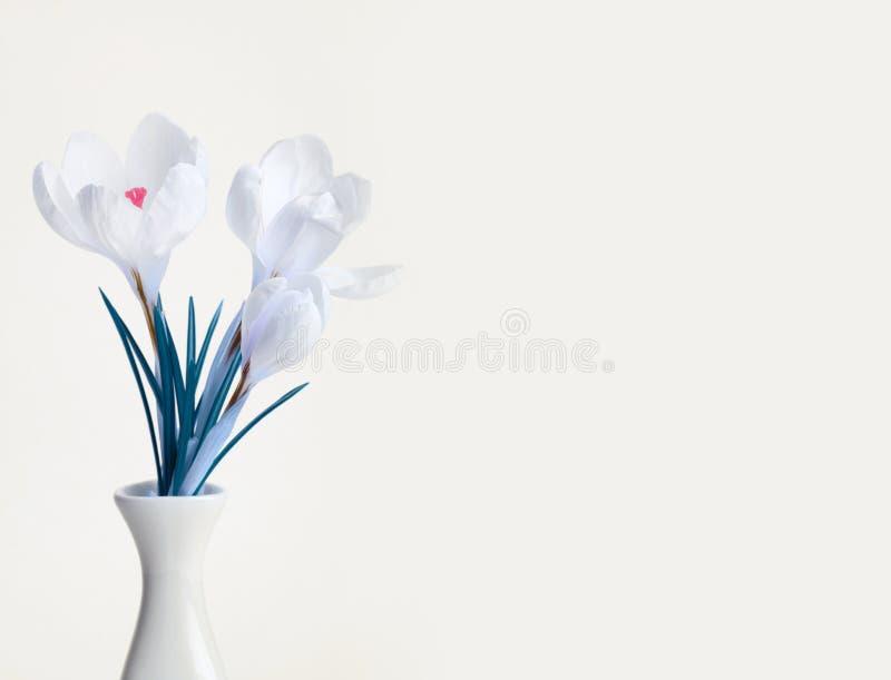 Ramo de la flor del azafrán de la primavera imágenes de archivo libres de regalías
