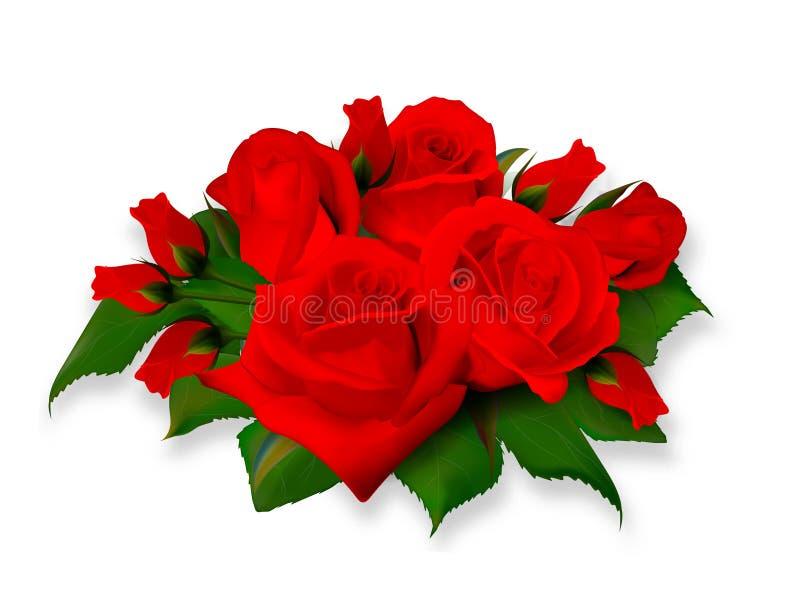 Ramo de las rosas ramo rosado amarillo delicado de la Té-rosa Realista subió No rastro Vector EPS 10 libre illustration