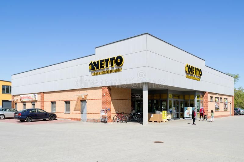Ramo de Netto Lebensmitteldiscounter imagem de stock royalty free