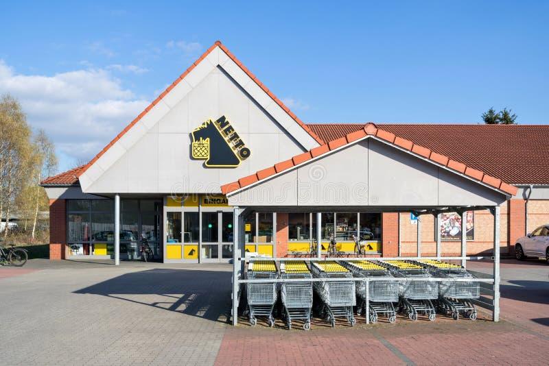 Ramo de Netto Lebensmitteldiscounter em Quickborn, Alemanha foto de stock