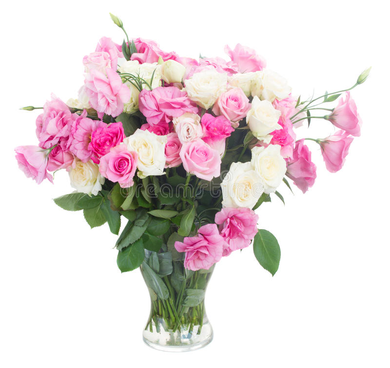 Ramo de rosas frescas foto de archivo libre de regalías