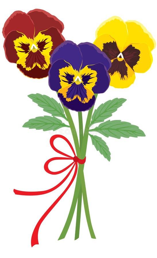 Ramo de violetas stock de ilustración