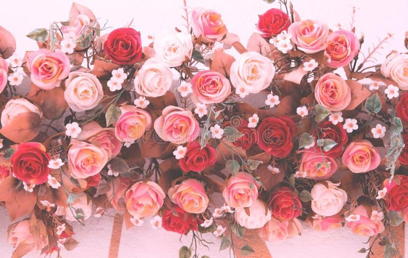 Ramo del vintage de flor color de rosa imágenes de archivo libres de regalías