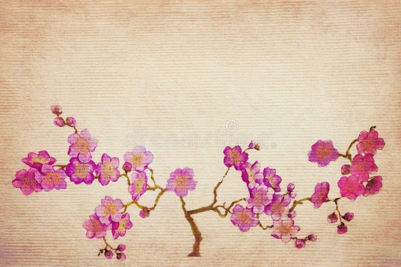 Ramo della ciliegia di lerciume illustrazione di stock