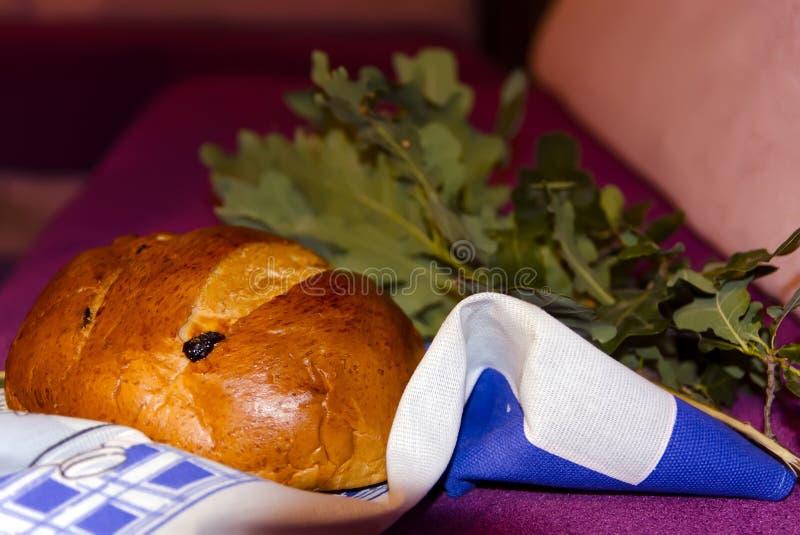 Ramo do pão e do carvalho imagens de stock