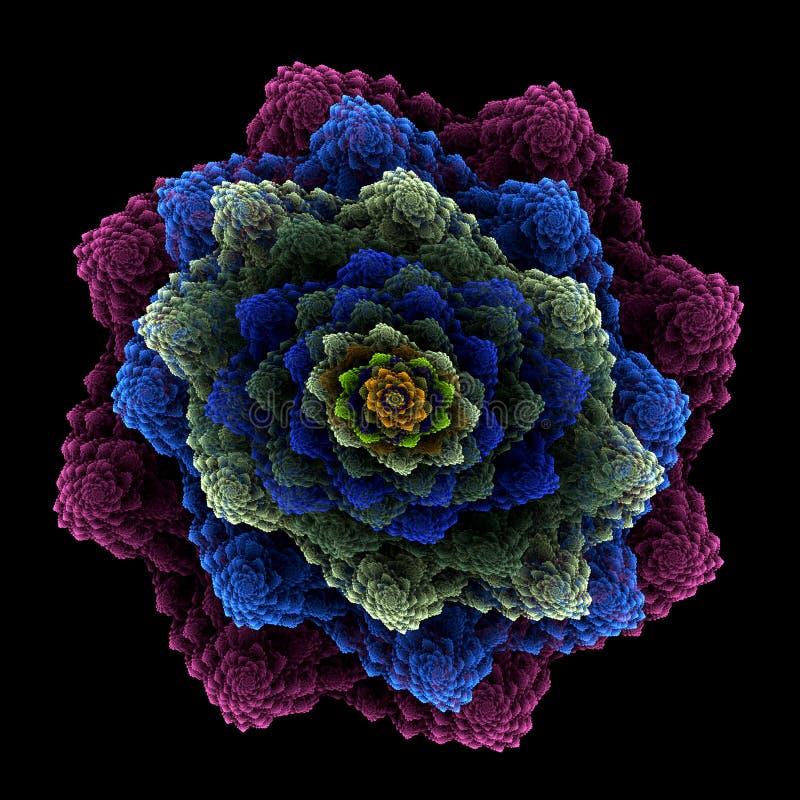 Ramo floral acodado stock de ilustración