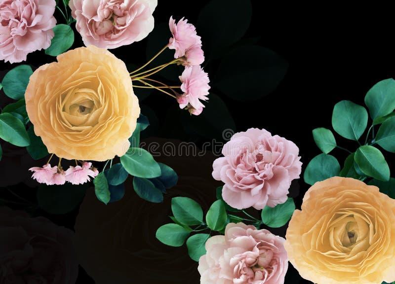 Ramo hermoso floristry de Digitaces de flores en un fondo llano fotografía de archivo libre de regalías