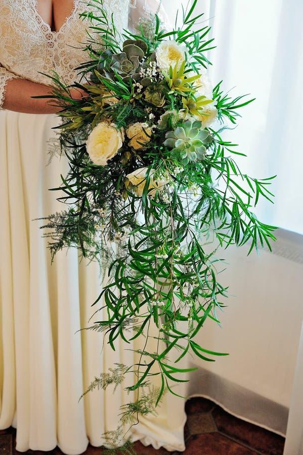 Ramo nupcial boda succulents fotografía de archivo libre de regalías